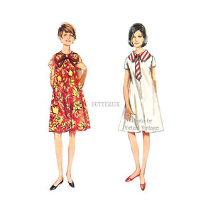 Easy 1960s Tent Dress Pattern, Butterick 4349