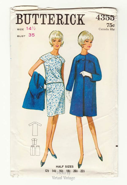 Butterick 4355, 60s Coat & Dress Pattern