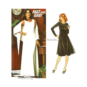 Easy Evening Gown Pattern, Butterick 4528