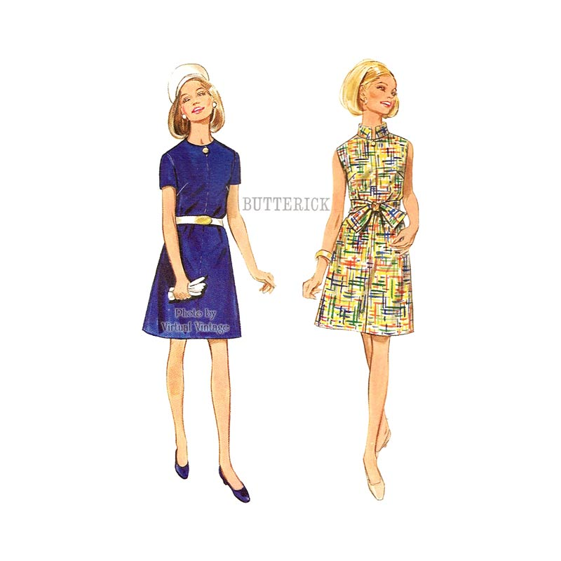 1960s Easy Dress Pattern, Butterick 5063