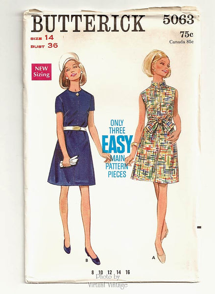 Butterick 5063, 60s Easy Dress Pattern