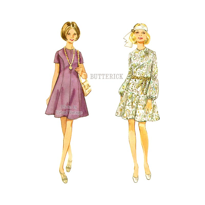60s Boho Dress Sewing Pattern, Butterick 5240