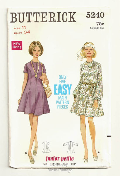 Butterick 5240, 1960s Boho Dress Pattern