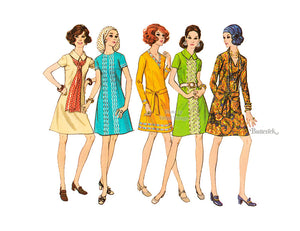 70s A Line Dress Pattern, Butterick 5836