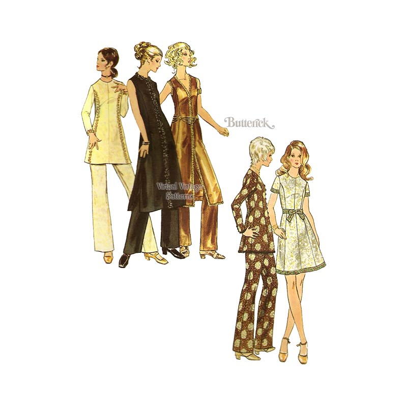 Vintage Sewing Pattern for Evening Dress & Pants, Butterick 5995