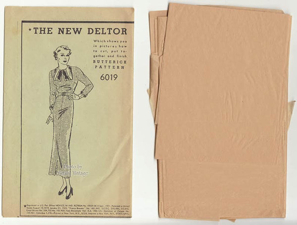 Butterick 6019 30s dress pattern