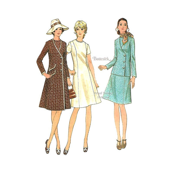Princess Seam Coat & Dress Patterns, Butterick 6137