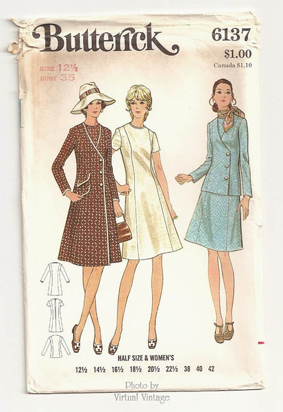 Butterick 6137, Princess Seam Coat & Dress Patterns