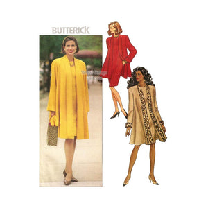 Womens Dress and Coat Pattern, Butterick 6398