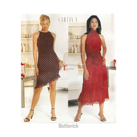 Chetta B Sleeveless Dress Pattern, Butterick 6868