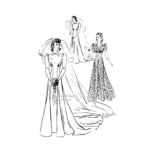 30s Wedding Dress Pattern, Butterick 8543