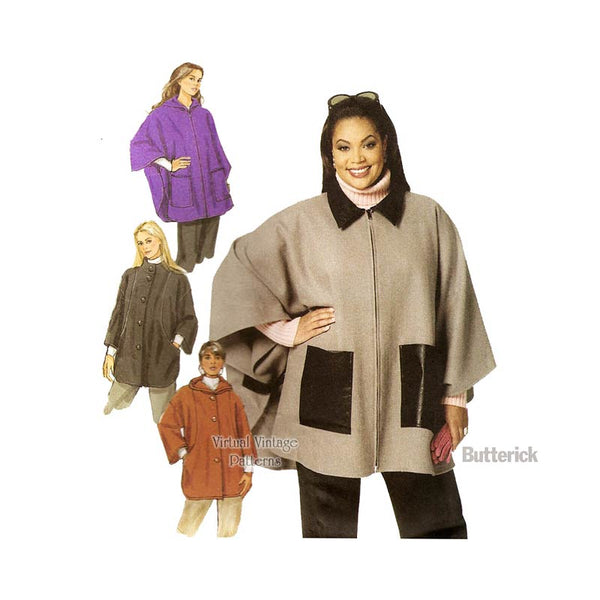 Plus Size Hooded Cape Pattern Butterick B5691