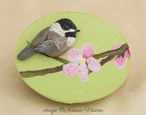 Chickadee Bird Trinket Box, Nature Gifts for Her, Polymer Clay Bird Sculpture