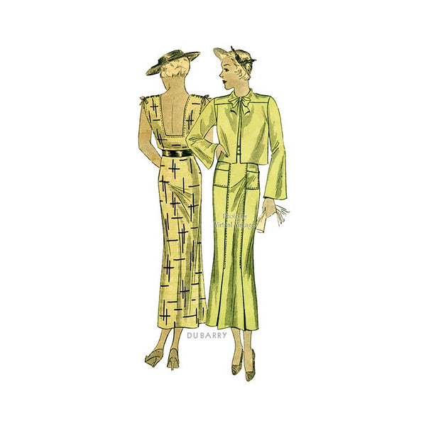 1930s Dress Pattern, duBarry 946B