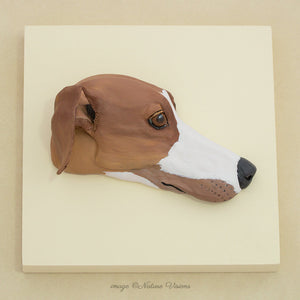 Greyhound Art Bas Relief Wall Hanging