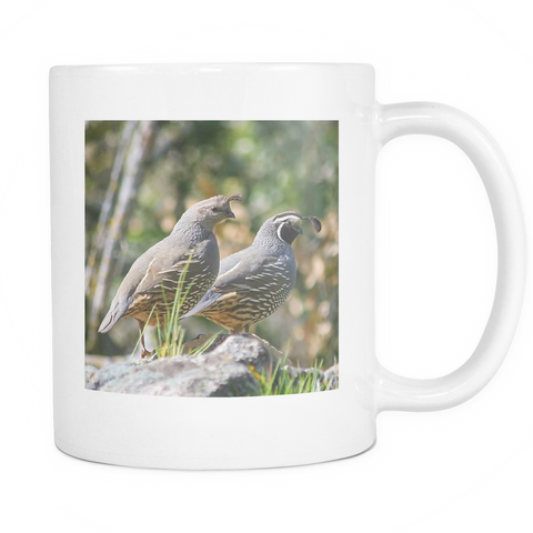 California Quail Mug, Coffee Cup