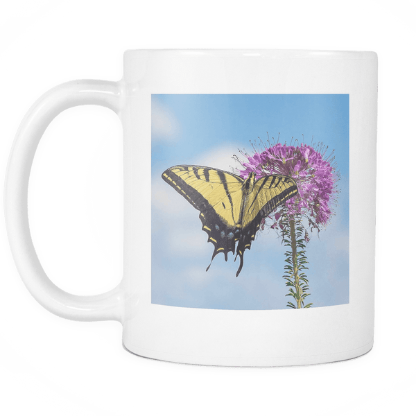 swallowtail butterfly tea cup