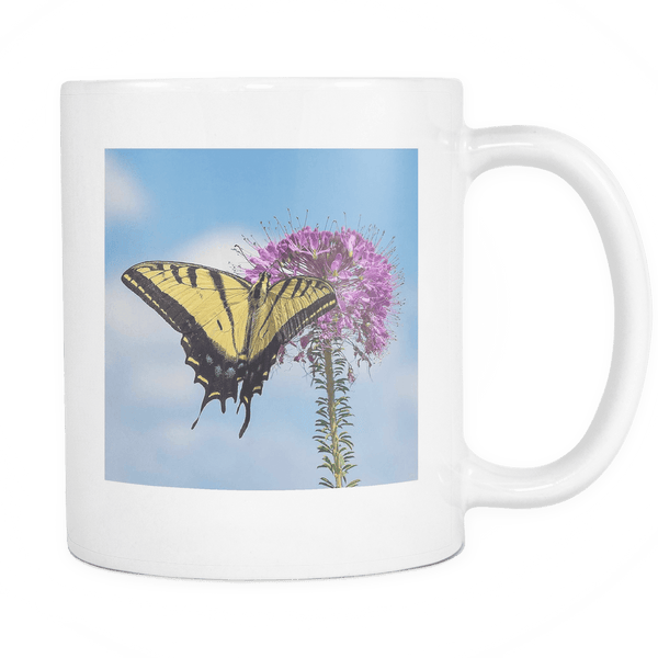 Two-tailed Swallowtail butterfly cup