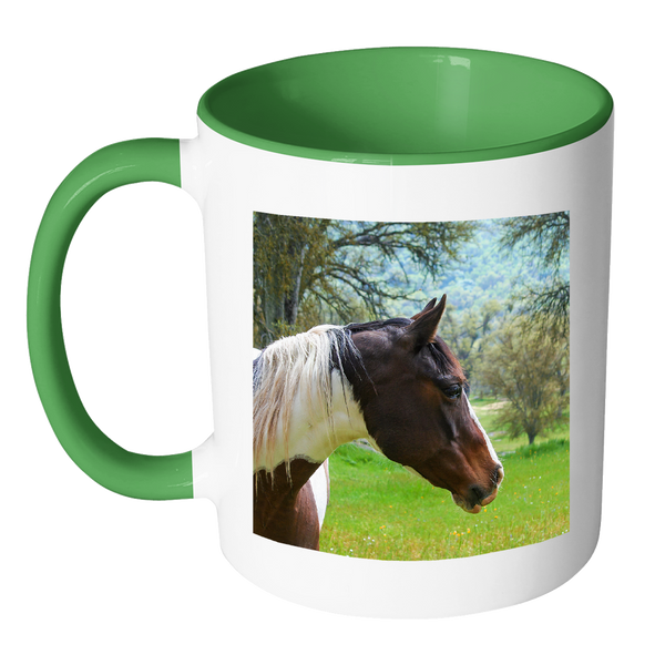 Pinto horse mug, ceramic coffee cup