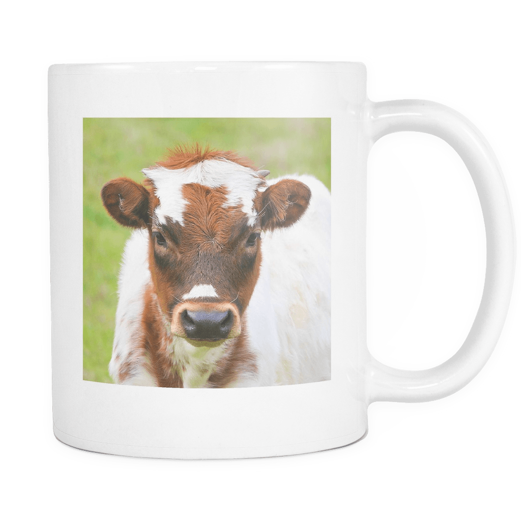 cute cow mug longhorn calf