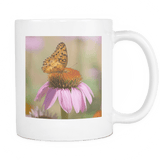 Brown Butterfly Tea Cup