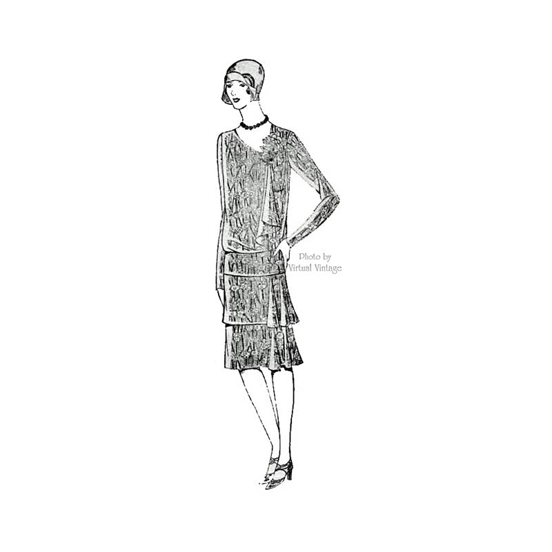 20s Flapper Dress Pattern, Mail Order 395