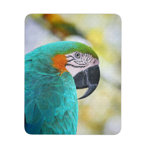 Blue & Gold Macaw Mouse Pad, Parrot Gifts, Computer Accessories