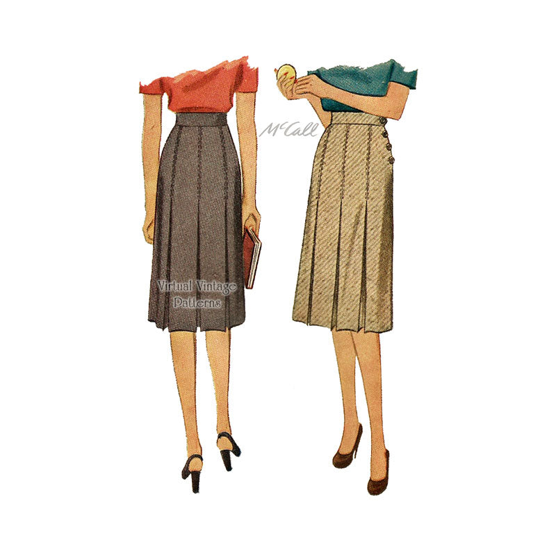 1940s Pleated Skirt Pattern, McCall 5750