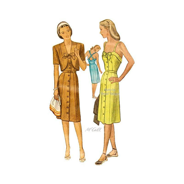 1940s Bolero & Sundress Pattern, McCall 5953