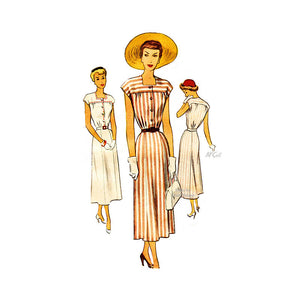 1940s Day Dress Pattern McCall 7624