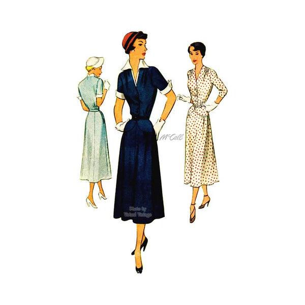 1950s Shirtwaist Dress Pattern, McCall 8110