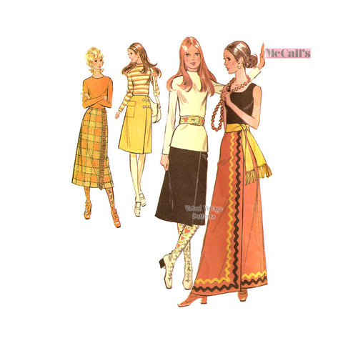 1970s Wrap Skirt Pattern, McCalls 2879