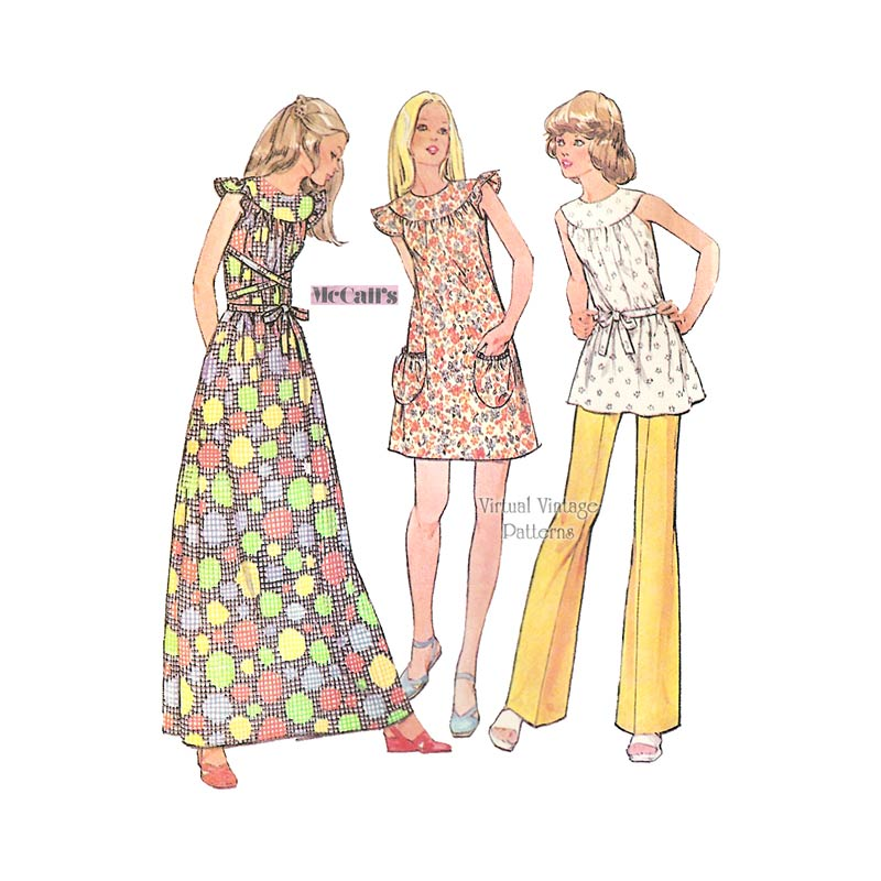 Boho Clothes Pattern, McCalls 3240