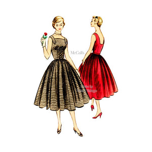 1950s Square Neck Halter Dress Pattern, McCalls 3264