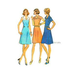 1970s A Line Dress Pattern, McCalls 3567