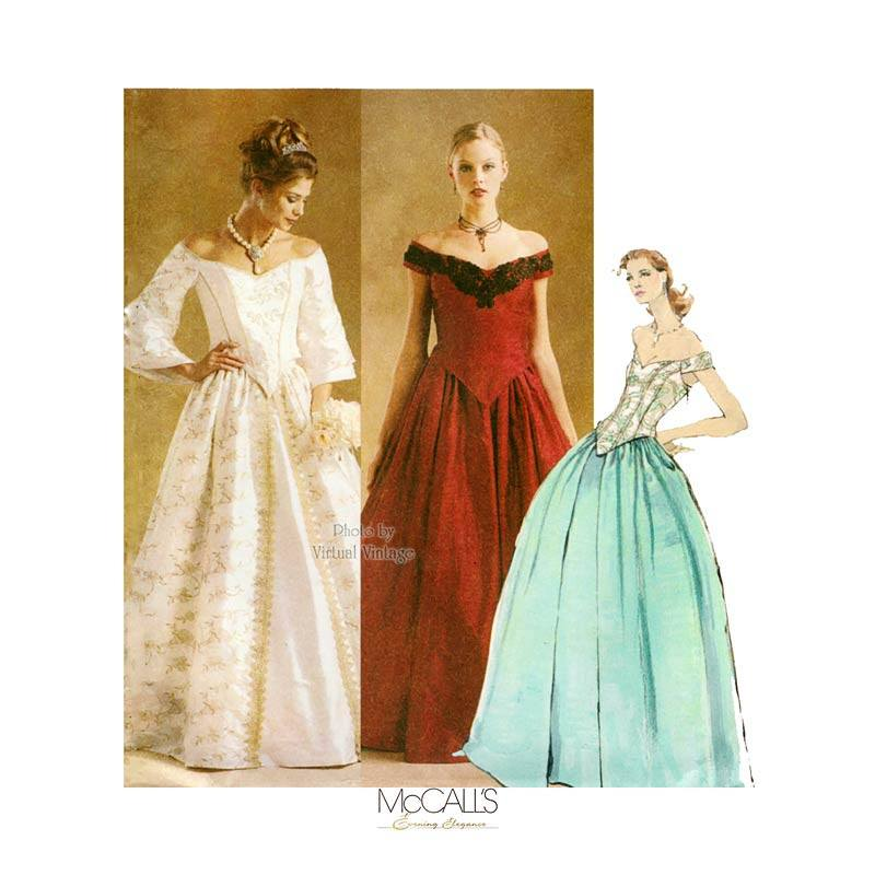 Evening Gown Pattern, McCalls 3681