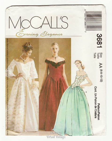 McCalls 3681 Evening Gown Pattern