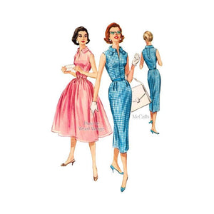 1950s Rockabilly Dress Pattern, McCalls 4115