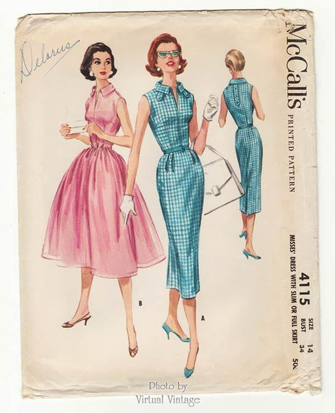 McCalls 4115, 1950s Rockabilly Dress Pattern