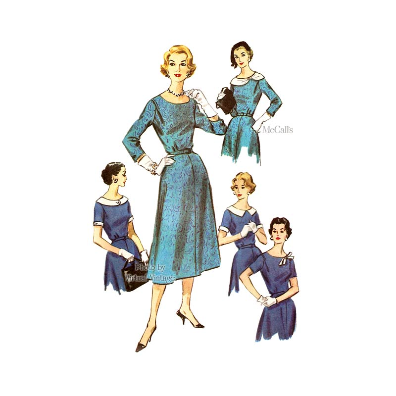 Vintage Shirtwaist Dress 1950s Sewing Pattern, McCalls 4275