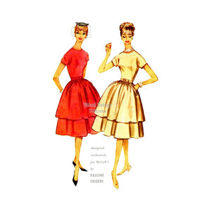 60s Pauline Trigere Dress Sewing Pattern, McCalls 5405