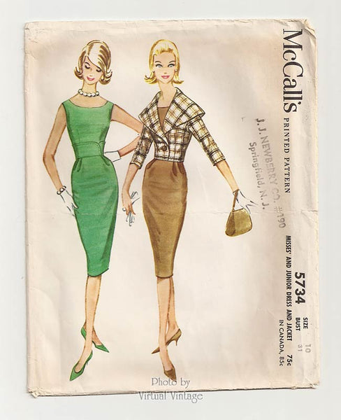 McCalls 5734, 1960s Wiggle Dress Pattern