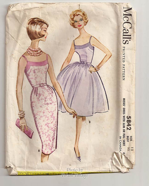 McCalls 5842, 60s Sheath Dress Pattern