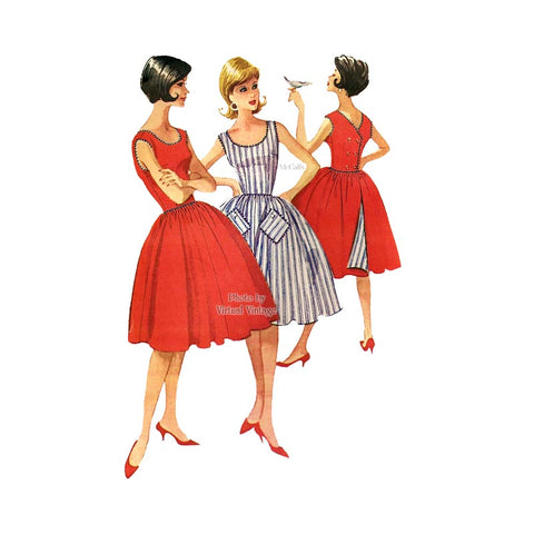 60s Reversible Dress Pattern, McCalls 5861