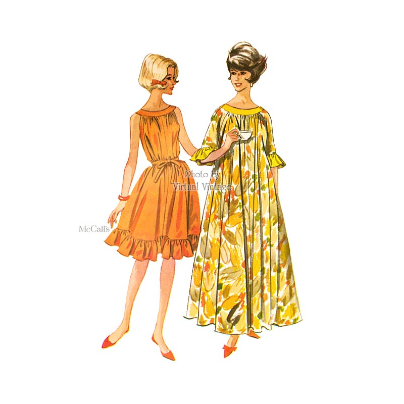 1960s MuuMuu Dress Pattern, McCalls 6340