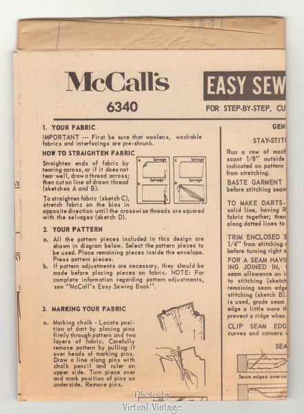 1960s MuuMuu Dress Pattern, McCalls 6340, Easy Sewing Pattern, Short & Long Muu Muus, Uncut