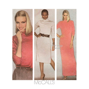 Easy Stretch Knit Dress Pattern McCalls 6822