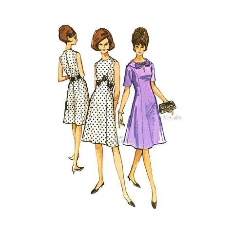 1960s Princess Line Dress Pattern, McCall's 7124