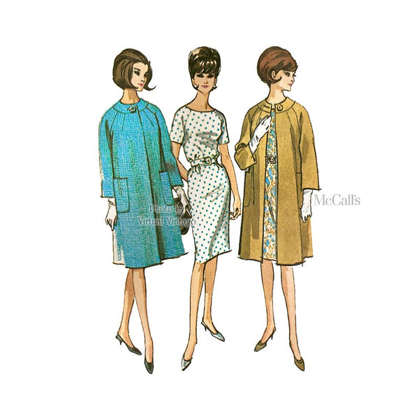 60s Dress and Coat Pattern, McCalls 7193