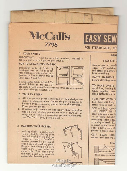 1960s Bathing Suit Pattern McCalls 7796 Two Piece Swimsuit with Cover Up, Shift Dress Bust 34 Uncut